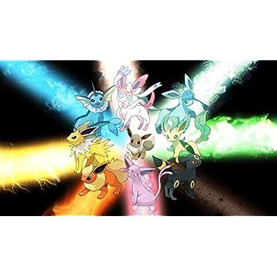 HiddenSupplies Eevee Lightning Light Playmat 24 x 14 Inch for Pokemon Magic The Gathering Yugioh: Toys & Games