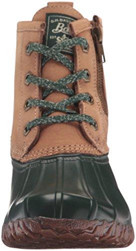 G.H. Bass Co. Women's Danielle Rain Boot, Tan/Chocolate, 6 M US Tan/Hunter Green