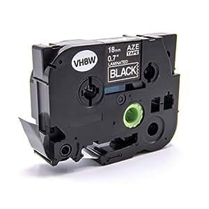 vhbw casete de cinta cartucho 18mm para Brother P-Touch 9200 PC, 9500 PC, 9700 PC, 9800 PCN, E 500 VP por TZE-241, TZ-241.
