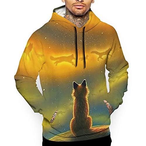 - Go KJ Unisex Fox Spirits Hoodies Funny Pullover Hood Jackets Sweatshirt