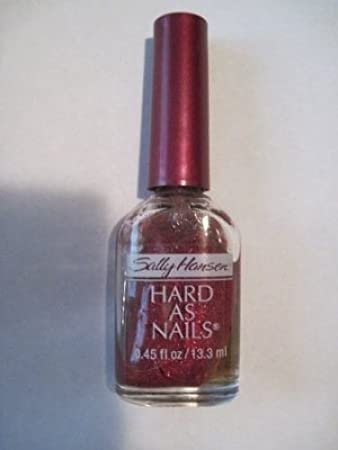 Amazon.com : 1 New Ruby Slippers 4012-03 Sally Hansen Fingernail Polish Hard As Nails Crystal Glitter : Beauty