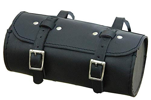 CALYX IN Genuine Leather Bicycle Saddle Round Bag Utility Tool Kit Black (BS) (Best Retro Bikes In India)