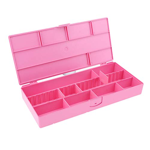 Portable Salon Hair Pins Nail Art Beads Hair Clamp Ribbons Organizer Case   Color - Rose Red