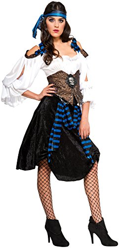 [Rubie's Costume Co Women's Rum Runner Pirate Costume, Multi, Standard] (Halloween Pirate Woman Costumes)