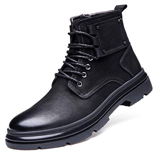 541b0ba8 Invierno Exteriores Black Botas Hombres Otoño Altos Zapatos E Martin Para  Herramientas Cuero De 7IATpP