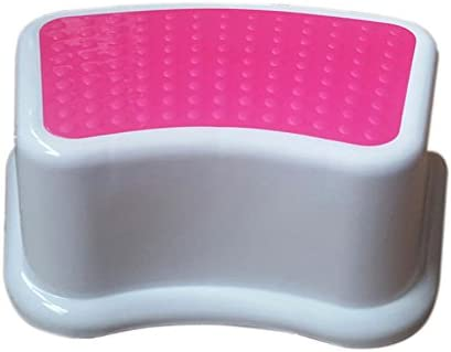 Kids Best Friend Girls Pink Step Stool, Ideal Gift, Take It Along in Bedroom, Kitchen, Bathroom and Living Room. Great for Potty Training