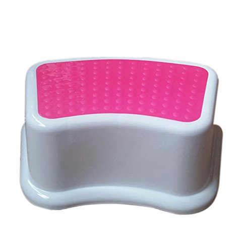 Kids Best Friend Girls Pink Step Stool, Ideal Gift, Take It Along in Bedroom, Kitchen, Bathroom and Living Room. Great for Potty ()