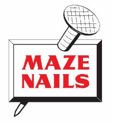 MAZE NAILS H526A-5 Pole Barn Ring Shank Nails, 5-Pound 20D 4-Inch Ring Barn Nail