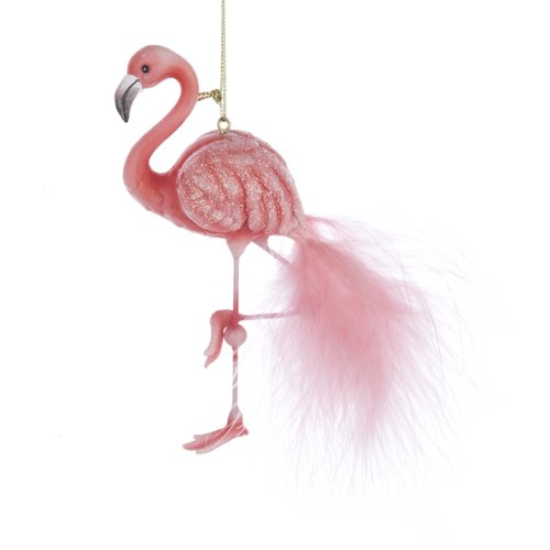 Kurt Adler Pink Flamingo Christmas Ornament