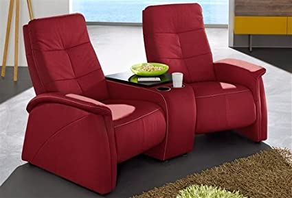 2 Sitzer City Sofa Mit Relaxfunktion Rot Mit Integrierter