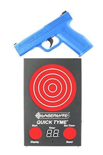 LaserLyte Trainer Target Quick TYME with 62 LEDs That Light up Laser Trainer Pistol Full Size Glock 19 Familiar Size Weight and Feel RESETTING Trigger Training with This System Will Make You Better