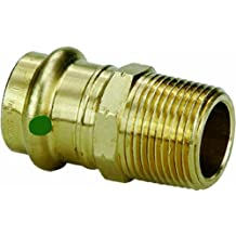 Viega 79245 ProPress Zero Lead Bronze Adapter with Male 1-Inch by 1-Inch P x Male NPT