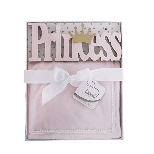 Born Loved Wall Art Throw Blanket Nursery Decor Baby Gift Set