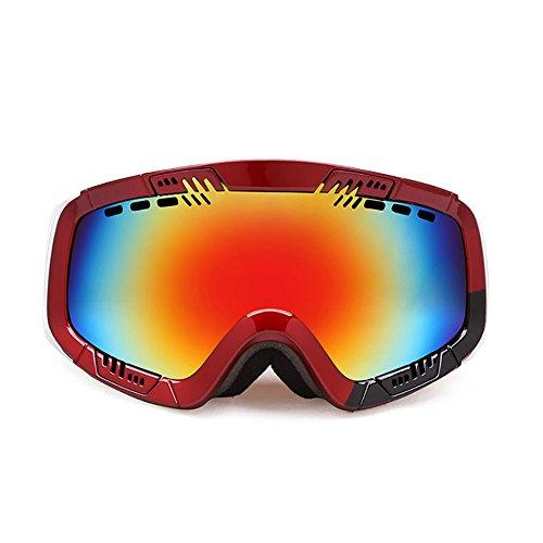 SE7VEN Lunettes De Ski Sphérique,Panoramique Anti Brouillard Double Couche Lunettes Myopie Compatible Unisexe Escalade Motoneige Des Lunettes De Protection D