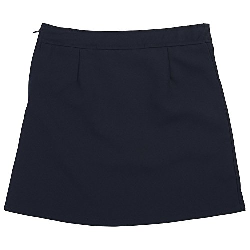 French Toast Big Girls' Two-Tab Pleated Scooter, Navy, 7 by French Toast (Image #2)