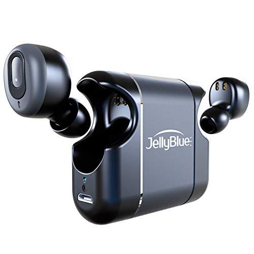 Bluetooth 이어폰 초경량 고음질 간편하게 휴대 할 수 있습니다 IPX5 방수 JellyBlue LT39 전체 무선 이어폰 Siri / Google 도우미 지원 자동 ON / OFF 귀에 통화 좌우 분리형 AAC 지원 2 대 동시 연결 최대 18 시간 재생 블랙