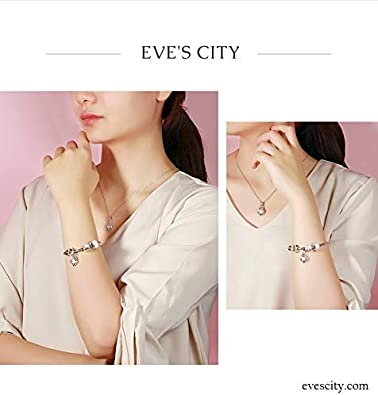 EVESCITY 925 Real Silver Gold Beads for Charm Bracelets /♥ Best Jewelry Gifts for Mothers Day /♥