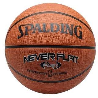 Pelota de baloncesto Spalding NBA nunca plana marrón-: Amazon.es ...