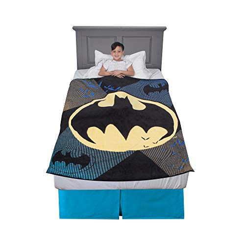 "Franco Kids Bedding Super Soft Plush Throw, 46"" x 60"", Batman"