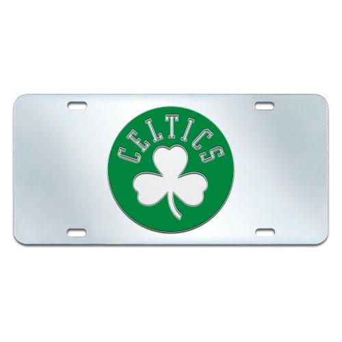 FANMATS NBA Boston Celtics Plastic License Plate (Inlaid) by Fanmats