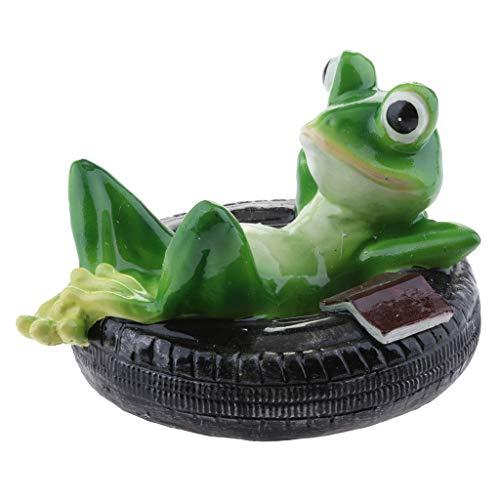 - D DOLITY Lotus Leaf & Frogs Floater Outdoor Pool & Pond Ornament Garden Decoration - E