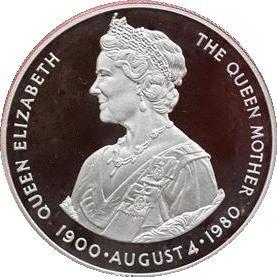Amazonde 1980 Falklandinseln Queen Mutter 50 Pence Pence Münze