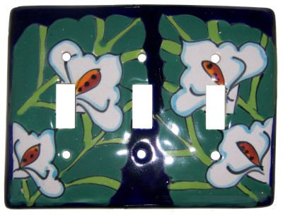 Lily Talavera Triple Toggle Switch Plate by Fine Crafts & Imports