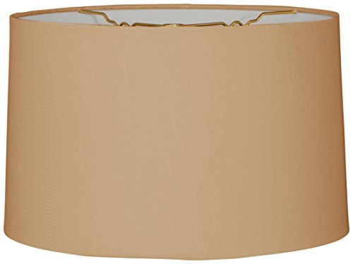 Royal Designs Shallow Drum Hardback Lamp Shade, Antique Gold, 9 x 10 x 7 by Royal Designs, Inc