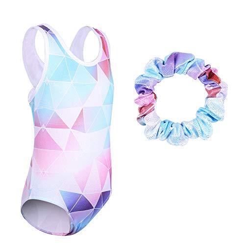 TFJH-E-Leotards-for-Gymnastics-Girls-Mesh-34-Sleeve-Practice-Apparel-Outfits-Scrunchie