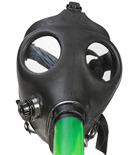 Bong acrílico Gas Máscara Rojo con madera Caletre. 45 cm: Amazon.es: Hogar