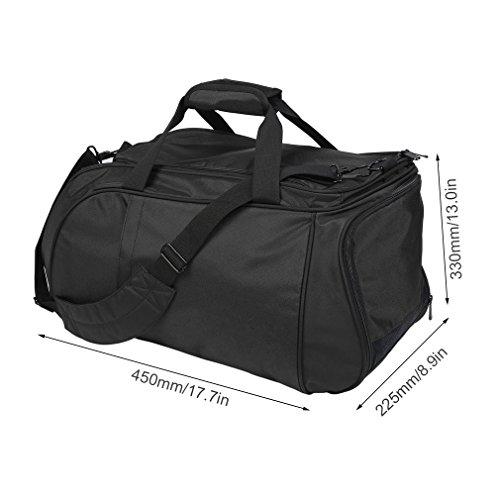 Tragbare Sport Gym Fitness Bag Travel Duffel Große Tragetasche Gepäck Tasche schwarz PwUyBVL