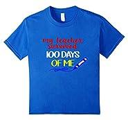 100 Days Of School Shirt Funny Cute Kids Teacher Survived Me