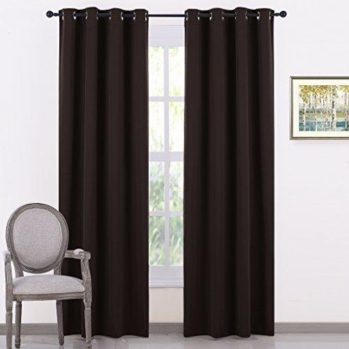 PONY DANCE Blackout Curtains Set - Super Solid Soft Grommet