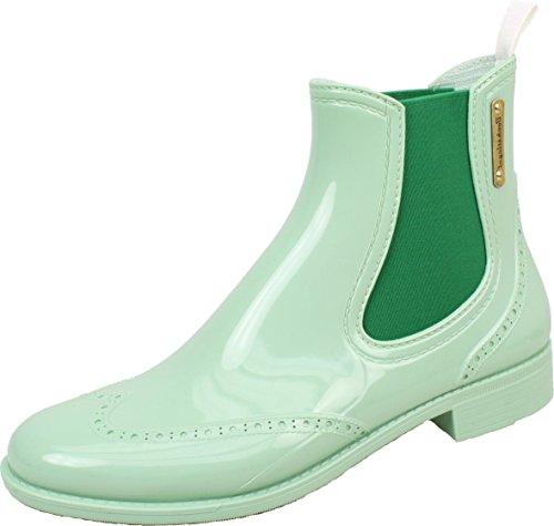 BOCKSTIEGEL® CHELSEA Mujer - Medio Botas de goma con estilo | Chelsea Boots | A prueba de agua | Elegante | Exclusivo Light green / Green