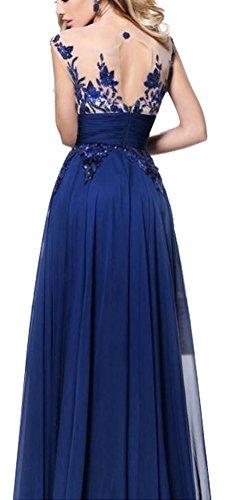 Armellose Spitze Prom Damen Ghope Festlich Abendkleid Blau Kliede Lang Maxi Perspektive Party Boho 6Bc6WUf