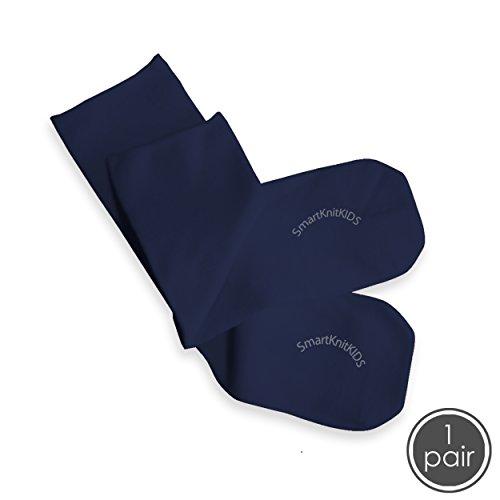 SmartKnitKIDS Seamless Sensitivity Socks (Navy, XX-Large) ()