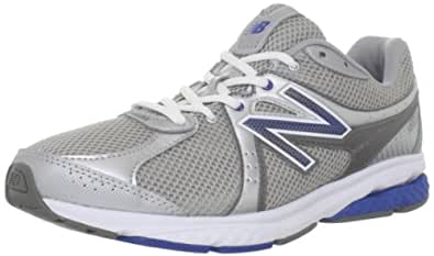 New Balance Men's MW665 Fitness Walking Shoe,Silver/Blue,7 D US