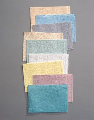 Tidi Products 917463 Tidi Towel, 2-Ply Tissue & Poly, Blue, 13 x 18, 500 Per - Professional Waffle Tidi Embossed Towel