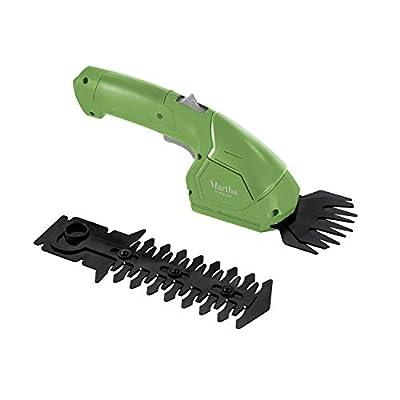 Martha Stewart MTS-CGSH1 2-in-1 Combo 7.2V Cordless Grass Shear and Hedger, Bay Leaf Green