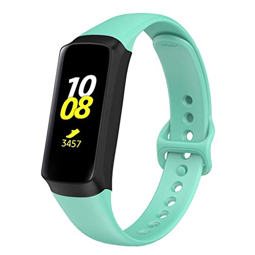 Cywulin Bands for Samsung Galaxy Fit E 2019 Soft Silicone Strap Sport Replacement Accessories Adjustable Wristband for Samsung Galaxy Fit E SM-R375 Activity Tracker Smart Fitness Watch (Mint Green)