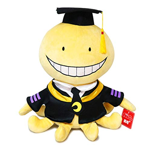 KroY PecoeD Anime Assassination Classroom Plush Doll, Cute Cartoon Ansatsu Kyoushitsu Koro Sensei Plush Toy Soft Doll Gift para ninos ninas y fanaticos del Anime(M)