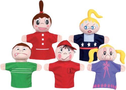 Get Ready Kids Caucasian Feelings Puppets Set by Get Ready Kids