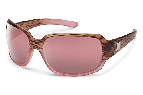 Suncloud Cookie Sunglasses, Mt Tortoise Pink Fade Frame/Rose Polycarbonate Lens, One - Sunglasses Surf