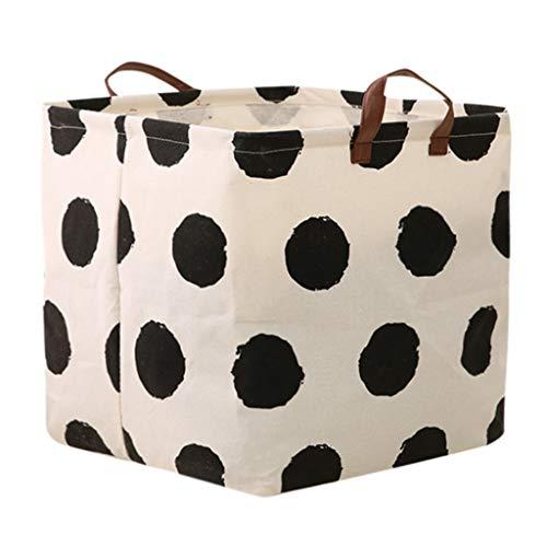 Ridkodg Storage Barrels,Cotton Linen Waterproof PE Coating Storage Basket Sundries Storage Box (#5)