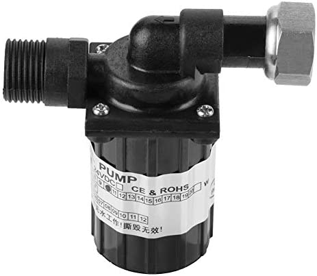 WEI-LUONG Circulation Pump DC 12V 10W Brushless Water Pump High Temperature Resistance Circulation Low Noise Black Compact