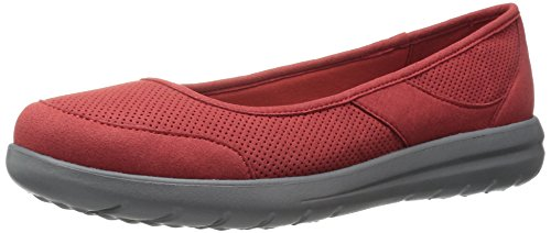 CLARKS - Jocolin Myla Damen Red Perforated Microfiber