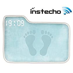 Alarm Clock for Heavy Sleepers,Instecho Rug Carpet Alarm Clock - Digital Display,Pressure Sensitive Alarm Clock with The Softest Touch for Modern Home