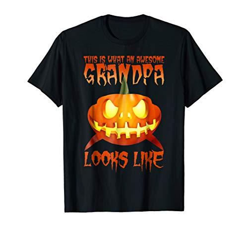 Awesome Grandpa Shark Halloween T-Shirt Pumpkin Shark ()