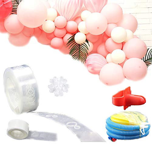 50 ft Balloon Decorating Strip Tape for Party Birthday Wedding Baby Shower Decorations - DIY a Balloon Garland/Balloon Arch -