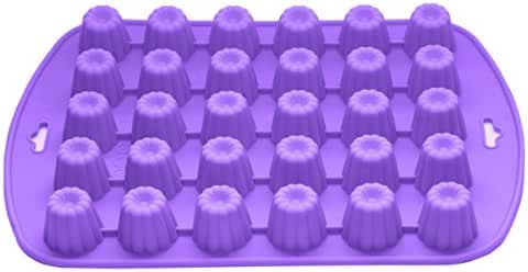 Bakerpan Silicone Chocolate Mold, 30 Cavities, Jelly and Candy Mold, Flower Shapes